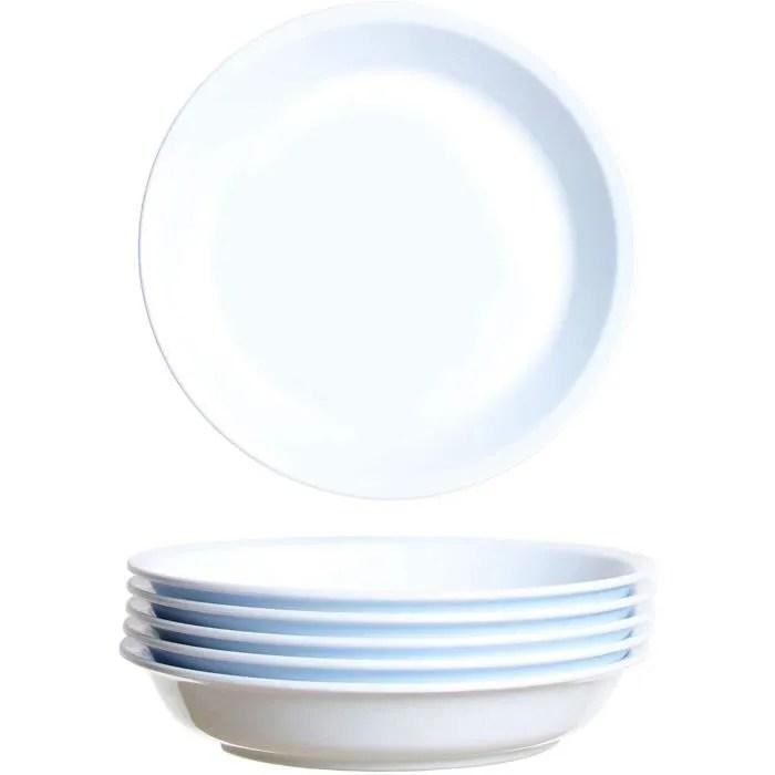 assiette jetable plastique rigide