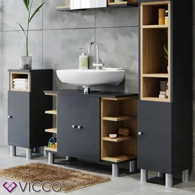 meuble sous lavabo anthracite achat