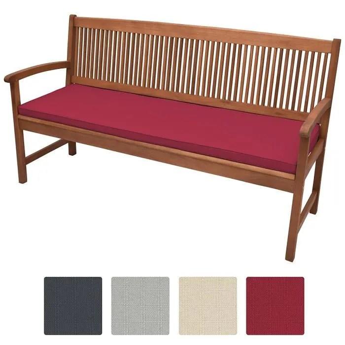 beautissu coussin banc base bk 100x48x5cm rouge