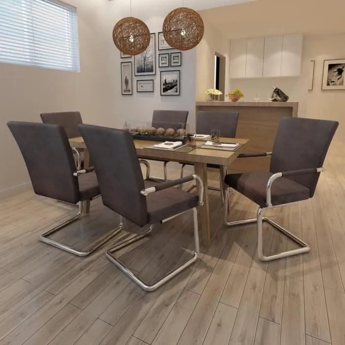 ensemble de 6 chaises de salle a manger marron haute qualite pour salon dejeuner elegant durable