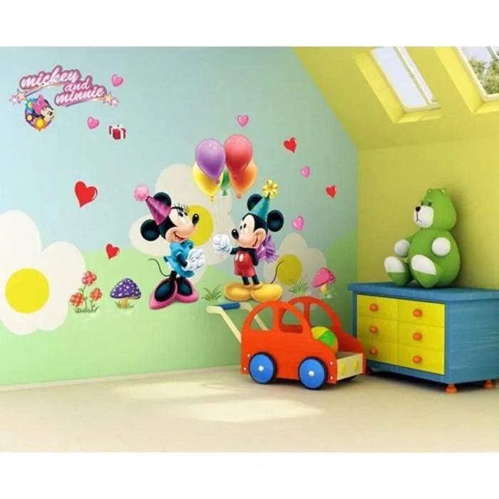sticker mural mickey minnie walt disney