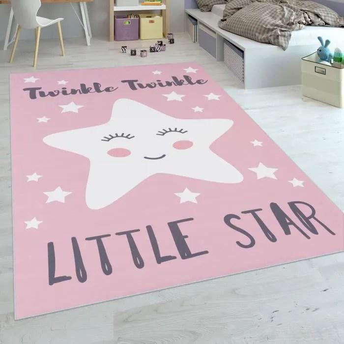 tapis enfant chambre enfant filles lavable mignon