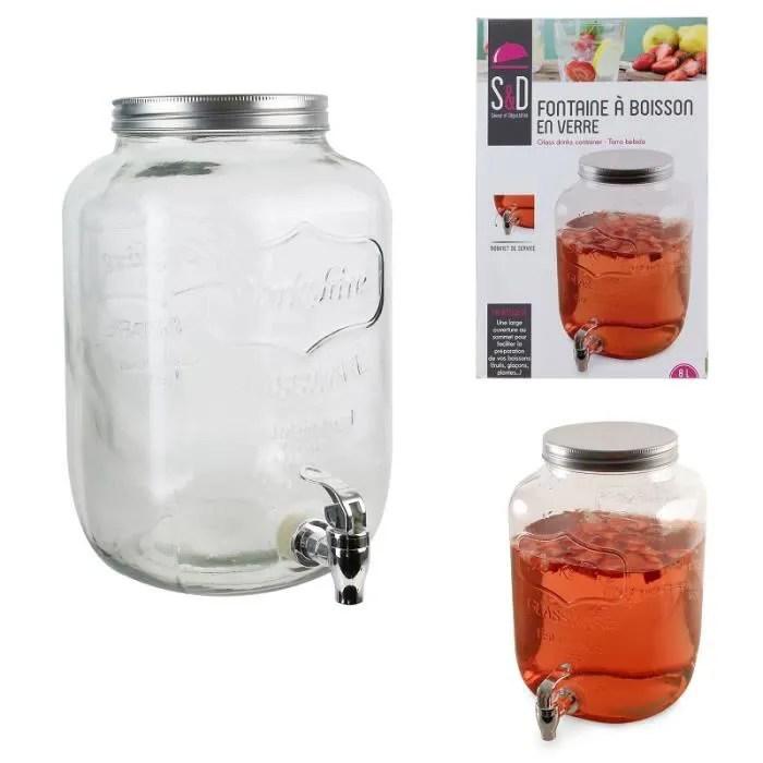 fontaine a boisson en verre 8 litre