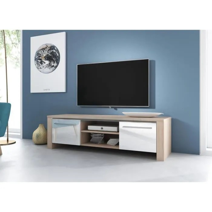 vivaldi meuble tv manhattan 140 cm