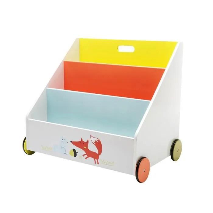 labebe coffre a jouets bibliotheque en