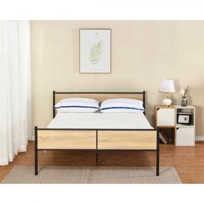 lit bois et metal 140x190