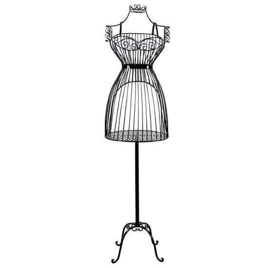Porte Vetement Mannequin De Couture Buste En Fer Forge Femme Noir Cdiscount Beaux Arts Et Loisirs Creatifs