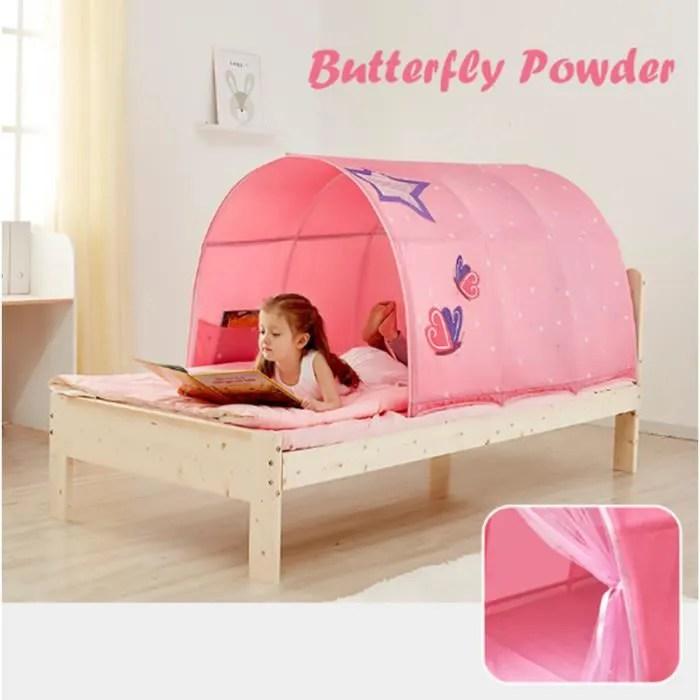 tente de lit enfant fille princesse interieur jouer tente cadeau moustiquaires ciels de lit jardin 100 140 80cm