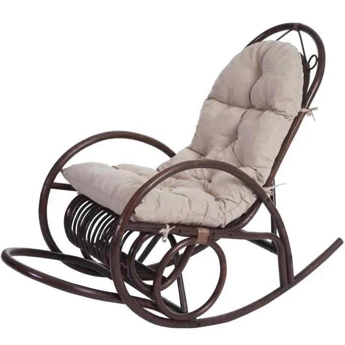 fauteuil rotin pivotant