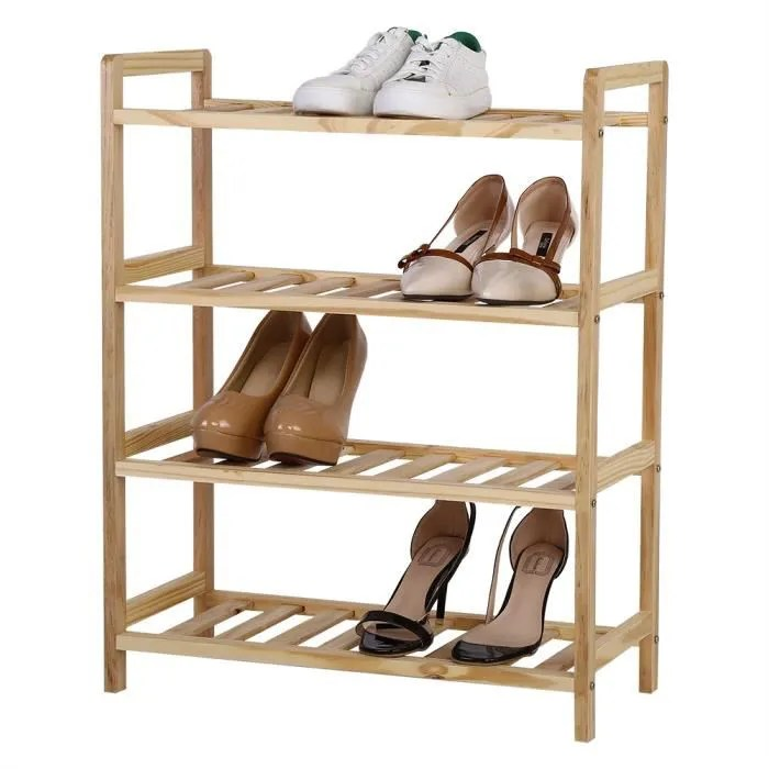 range chaussures en bois porte