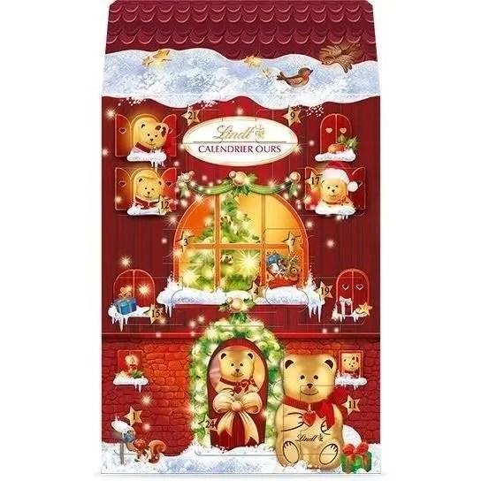 lindt sprungli calendrier de l avent chocolat chalet ours lait 236 g