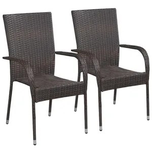 chaises confortables empilables