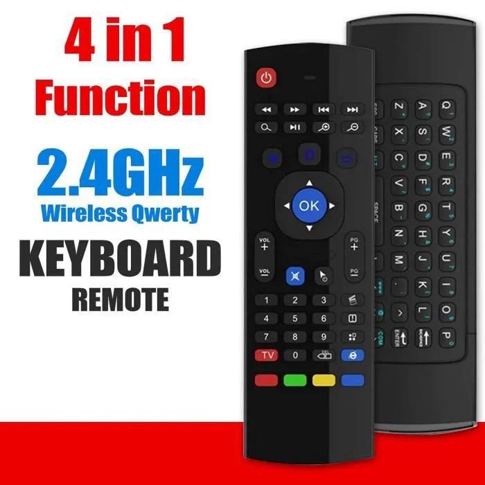 clavier sans fil et telecommande pour samsung smart tv