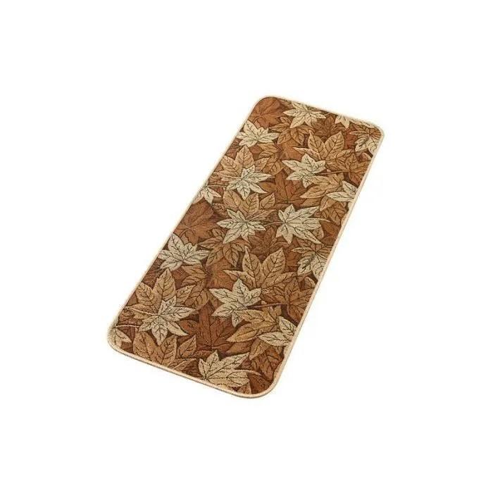 tapis feuilles d automne antiderapant 118 x 50 cm