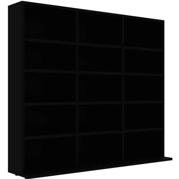 vidaxl meuble range cd noir 102x16x89 5 cm agglomere