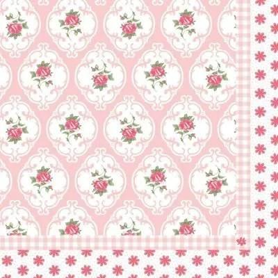 papier fleuri rose liberty