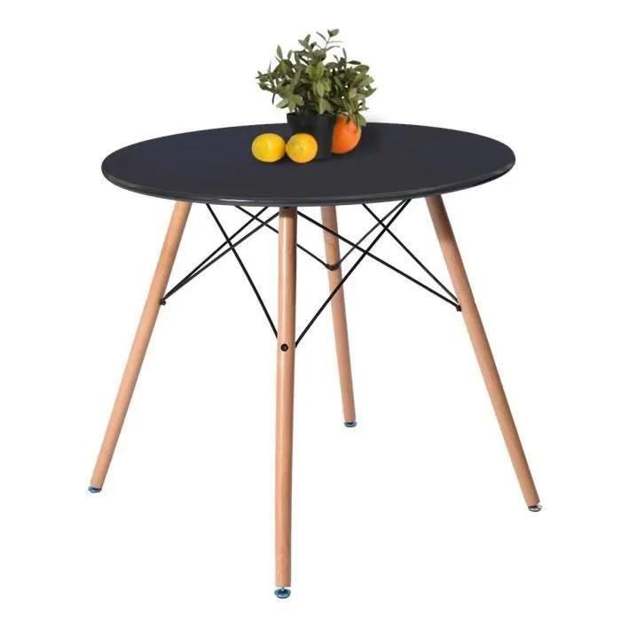 table a manger ronde noir