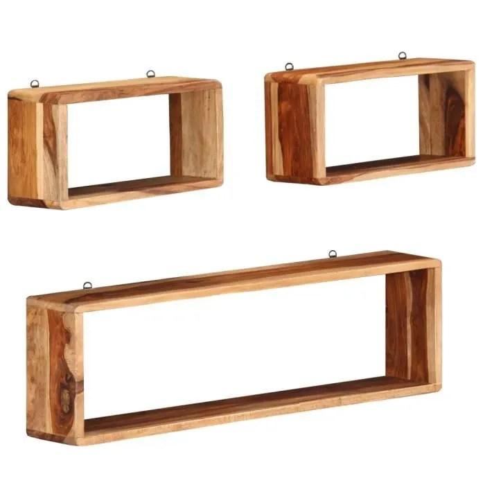 cube 3 pcs bois solide