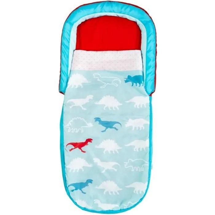 dinosaures mon tout premier readybed lit gonflable pour enfants avec sac de couchage integre
