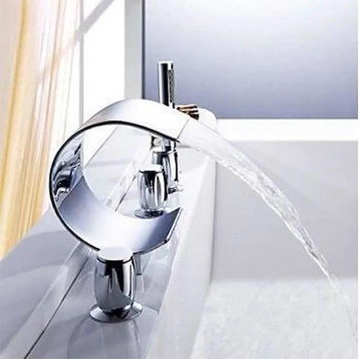 mitigeur robinet luxe cascade baignoire baignoire