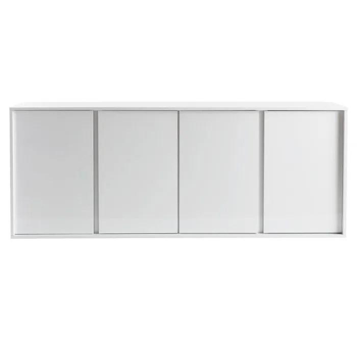 buffet design blanc laque