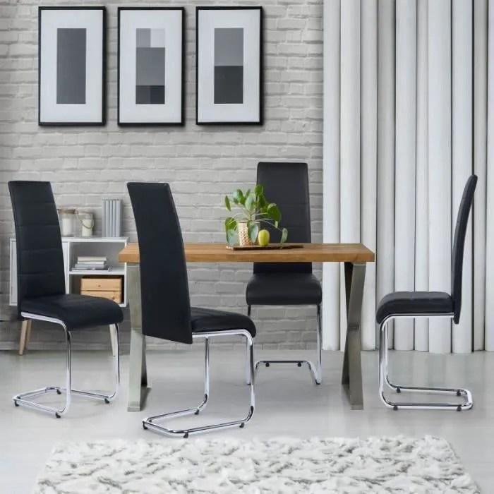 lot de 4 chaises mia noires pour salle a manger
