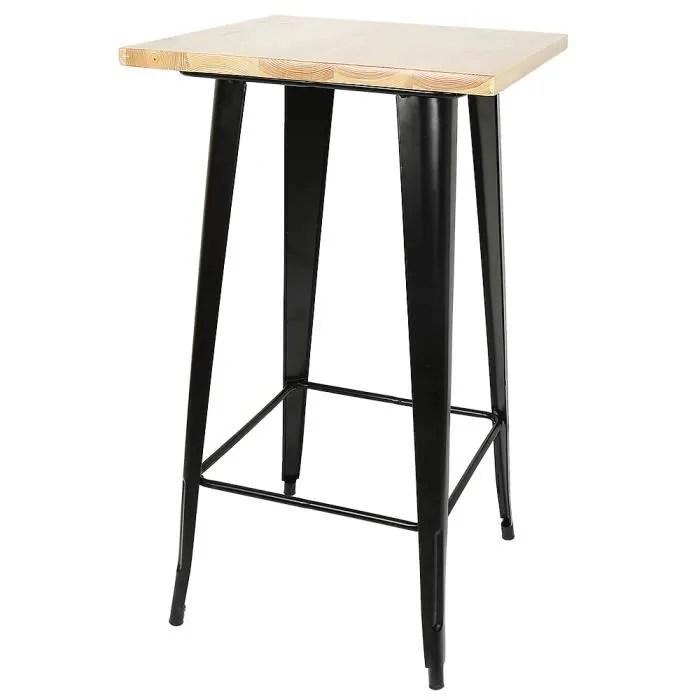 pied de table bar noir