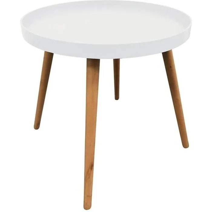 table d appoint ronde avec plateau