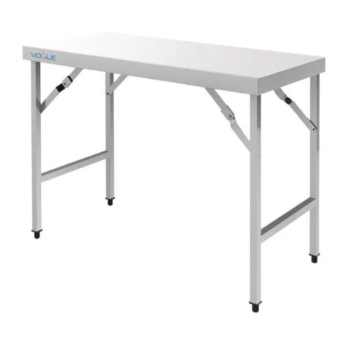 grande table pliante inox 1 80m vogue