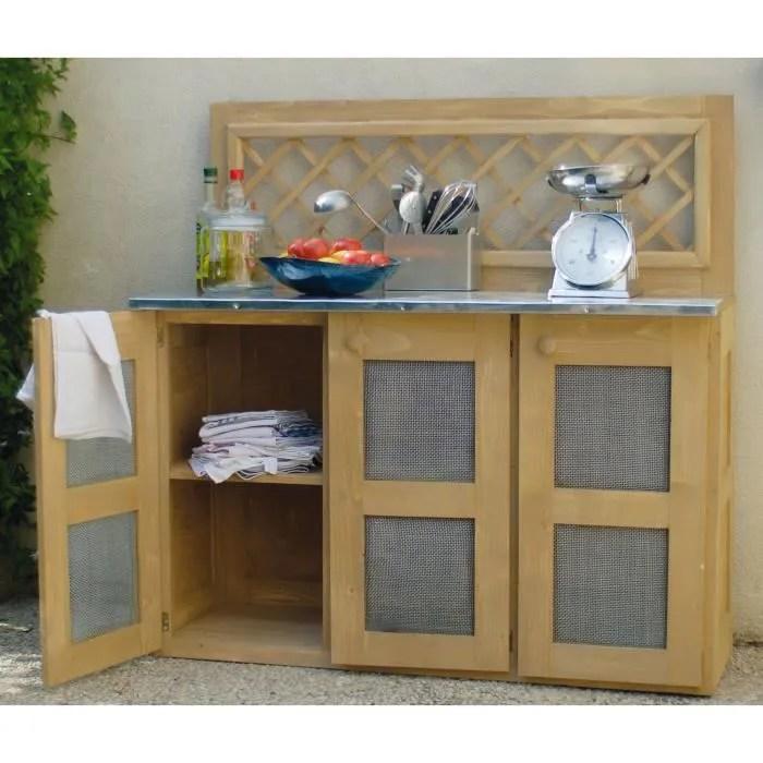 meuble cuisine d ete en bois traite