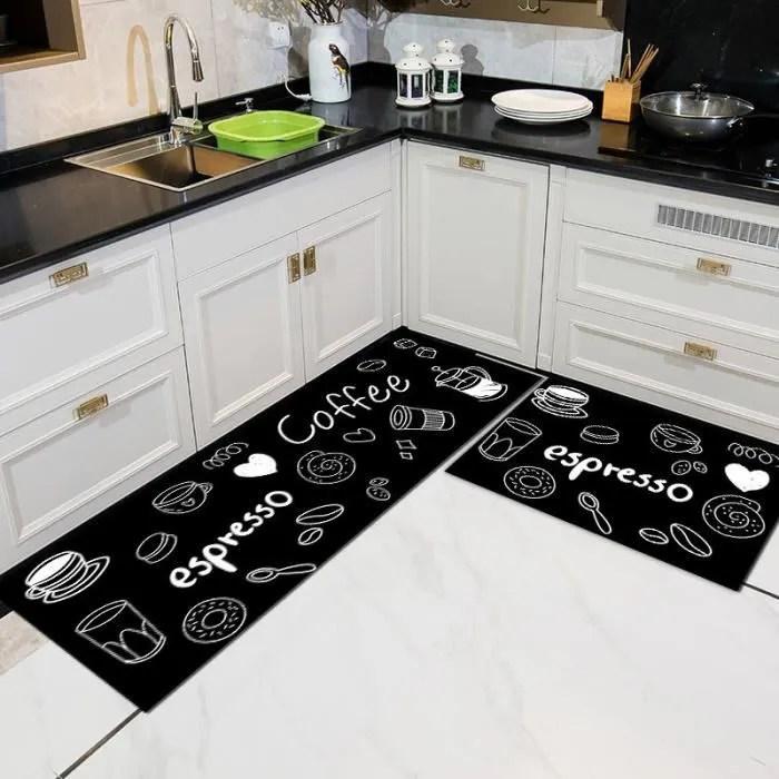 xichao tapis de cuisine en cuir pvc tapis antide