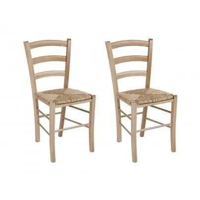 lot de 2 chaises paysanne hetre