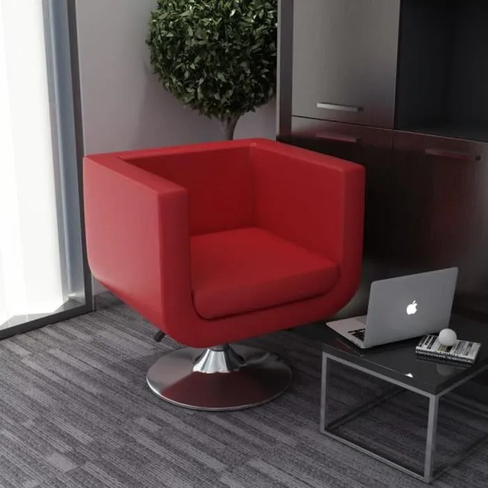 fauteuil pivotant rouge