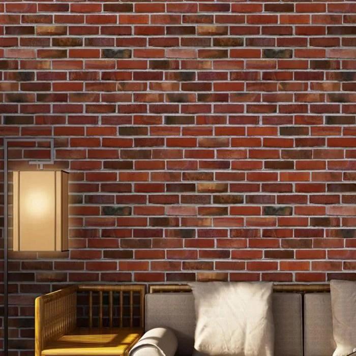 Simulation Effet Brique Rustique Pierre Autoadhesifs Autocollant Mural Home Decor E S8650 Achat Vente Carrelage Parement Simulation Effet Brique Cdiscount