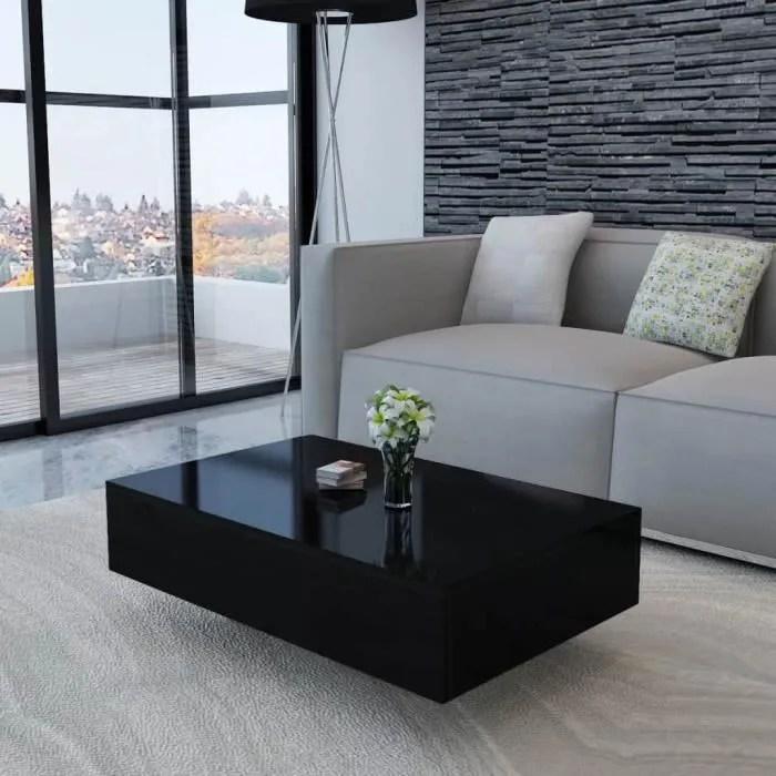 table basse moderne table de salon scandinave table bass style contemporain haute brillance noir