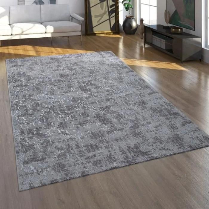 tapis poils ras pour salon au look oriental lava