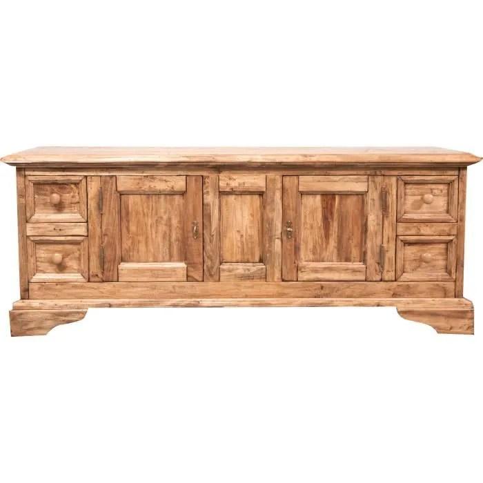 meuble tv rustique style en bois massif de tilleul