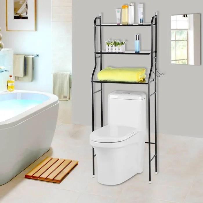 etagere de wc meuble dessus wc rangement stockage noir