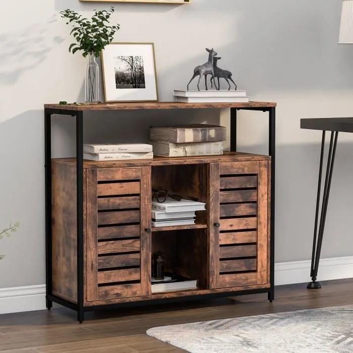 meuble de rangement industriel 90 x 30 x 80cm bi