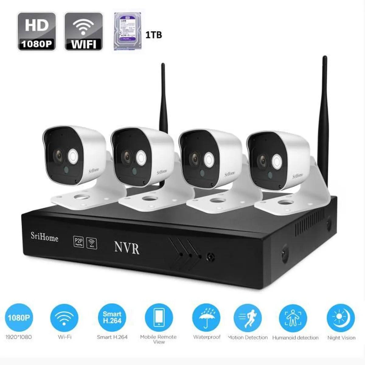 Kit Video Surveillance Exterieur Sans Fil Idees