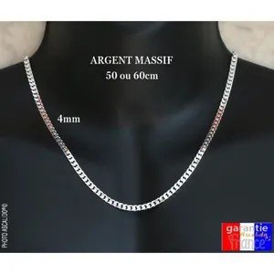 chaine argent homme