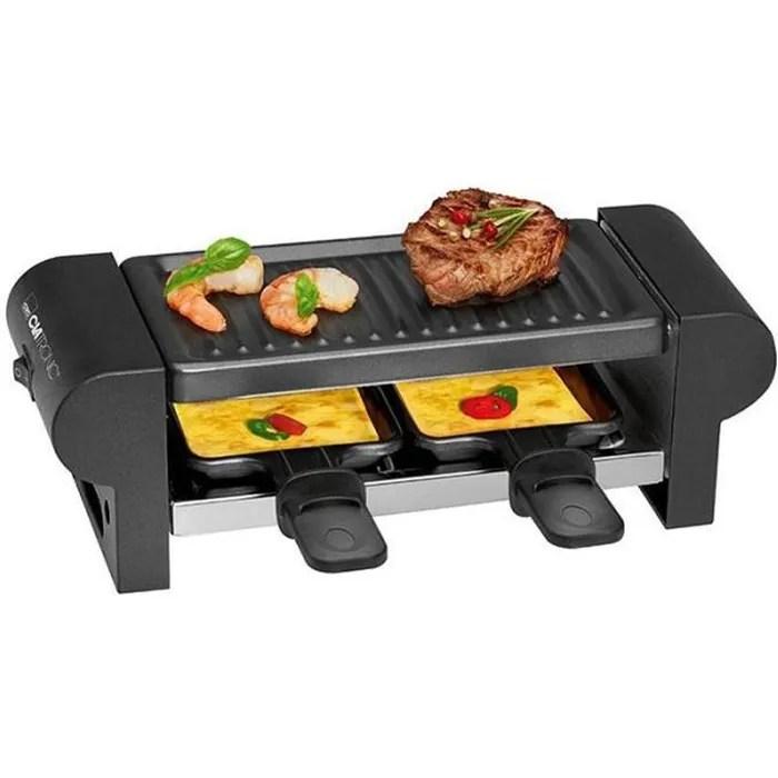 grill raclette 2 personnes rg 3592 clatronic noir