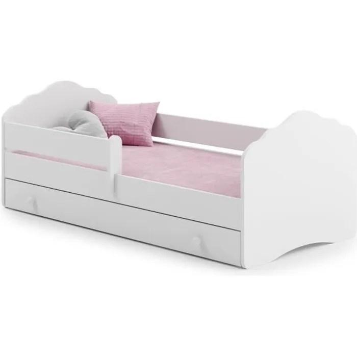 lit complet enfant 140 x 70 cm sommier matelas tiroir