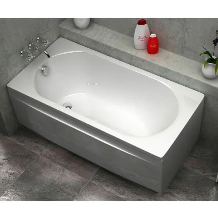 baignoire acrylique droite 160x75 sanycces blanc