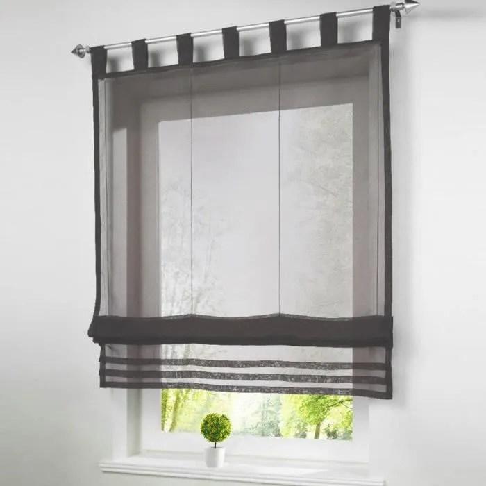 1pc store romain lxh 80x155cm gris rideaux voilage