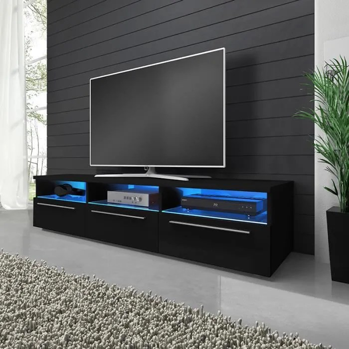 https www apitotal ro meuble tv lavello blanc mat noir brillant avec led