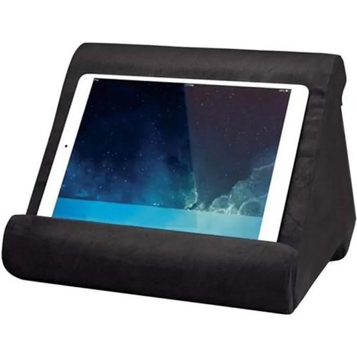 coussin de support universel reglable pour tablette pour iphones ipads smartphones tablettes android windows noir