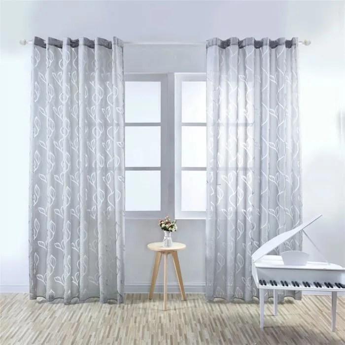 1pcs 100x270cm rideaux voilage pour porte fenetre