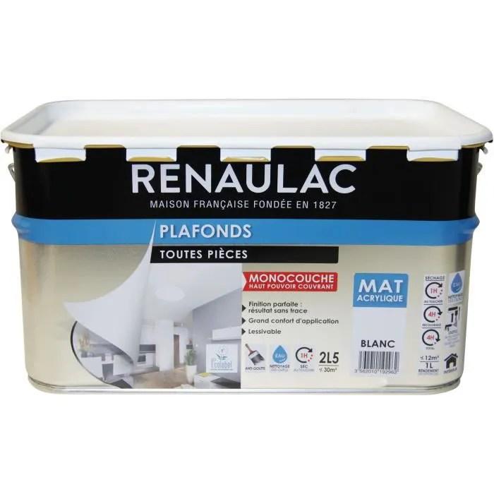 peinture acrylique blanc 2 5l
