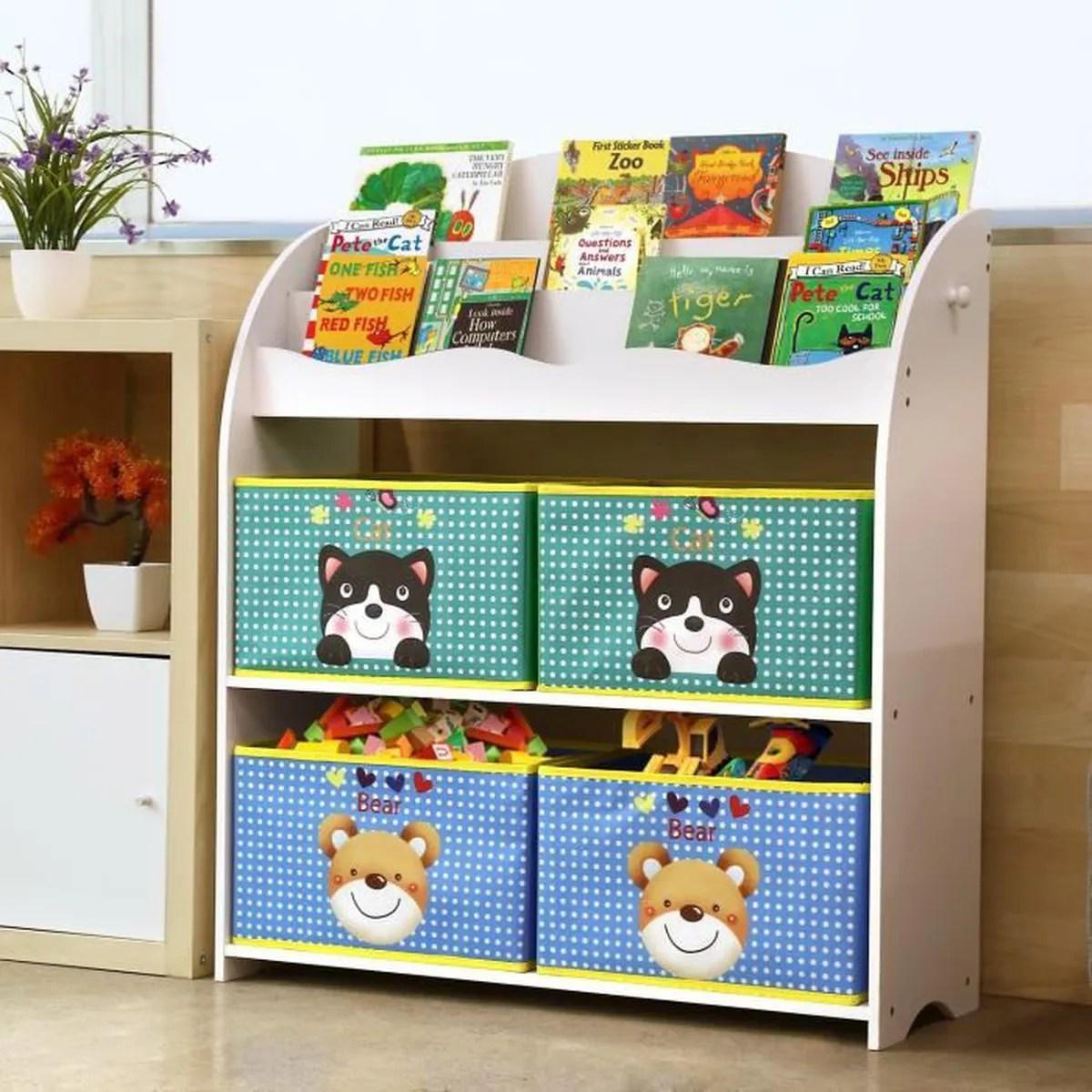 homfa meuble de rangement jouets